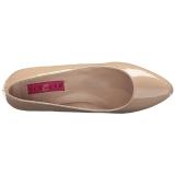 Bege Verniz 8 cm DIVINE-420W Sapatos Scarpin Femininos
