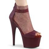 Borgonha 18 cm ADORE-765RM brilho plataforma zapatos mulher