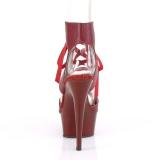Borgonha Imitação de couro 15 cm DELIGHT-600-14 sandálias pleaser com plataforma