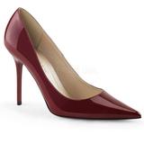 Borgonha Verniz 10 cm CLASSIQUE-20 Sapatos Scarpin Salto Agulha