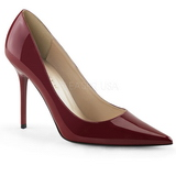 Borgonha Verniz 10 cm CLASSIQUE-20 numeros grandes sapatos stilettos