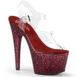 Borgonha brilho 18 cm Pleaser ADORE-708HMG sapatos de saltos pole dance