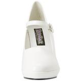 Branco 10 cm CONTESSA-50 Mary Jane Scarpin Sapatos Altos