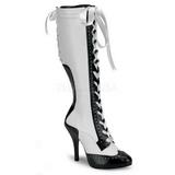 Branco 11,5 cm TEMPT-126 Botas com Cadarco Femininas