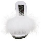 Branco 12,5 cm GLITZY-501-8 marabu penas Tamancos Altos