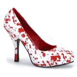 Branco 13 cm BLOODY-12 calçados femininos com salto alto