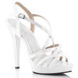 Branco 13 cm Fabulicious LIP-113 sandálias de salto alto mulher