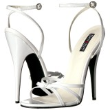 Branco 15 cm DOMINA-108 sapatos fetiche com salto agulha