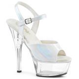 Branco 15 cm KISS-209BHG Plataforma Sapatos Salto Alto