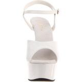 Branco 15 cm Pleaser DELIGHT-609 Salto Alto Plataforma