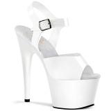 Branco 18 cm ADORE-708N Plataforma Sapatos Salto Alto