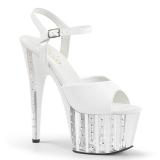 Branco 18 cm ADORE-709VLRS Plataforma sapatos de salto com strass
