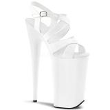 Branco 25,5 cm BEYOND-097 Plataforma Sapatos Salto Alto