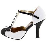 Branco Camurca 10 cm SMITTEN-10 Sapatos Scarpin Femininos