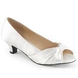 Branco Cetim 5 cm FAB-422 numeros grandes scarpin mulher