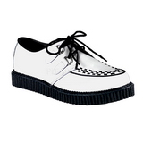 Branco Couro 2,5 cm CREEPER-602 Creepers Sapatos Homem Plataforma