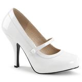 Branco Envernizado 11,5 cm PINUP-01 numeros grandes scarpin mulher