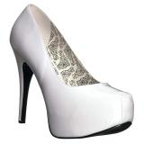 Branco Envernizado 14,5 cm Burlesque TEEZE-06W scarpin pés largos para homem