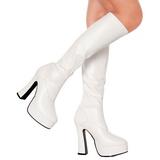 Branco Fosco 13 cm ELECTRA-2000Z Botas Mulher para Homens