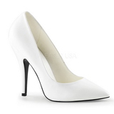 Branco Fosco 13 cm SEDUCE-420 Scarpin Saltos Altos para Homens