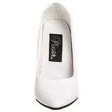 Branco Fosco 13 cm SEDUCE-420 scarpin de bico fino salto alto