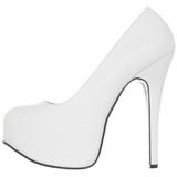 Branco Fosco 14,5 cm Burlesque BORDELLO TEEZE-06 Plataforma Scarpin Salto Alto
