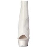 Branco Fosco 16 cm DELIGHT-1018 Plataforma Botinha Cano Curto