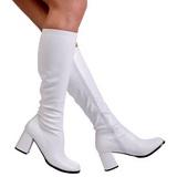 Branco Fosco 7,5 cm GOGO-300 Botas Mulher para Homens