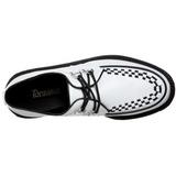 Branco Imitação Couro V-CREEPER-502 Creepers Sapatos Homem Plataforma