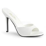 Branco Imitacao couro 10 cm CLASSIQUE-01 numeros grandes tamancos mulher