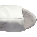 Branco Imitação de couro 15 cm DELIGHT-3019 bota acima do joelho
