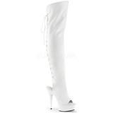 Branco Imitação de couro 15 cm DELIGHT-3019 bota plataforma acima do joelho