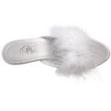 Branco Penas 8 cm BELLE-301F Tamancos Altos para Homens