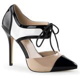 Branco Preto 13 cm AMUSE-30 Sapatos Scarpin Salto Agulha