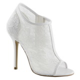 Branco Tecido 13 cm AMUSE-56 sapato scarpin para noite de gala