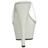 Branco Transparente 15 cm KISS-201 Plataforma Tamancos Altos