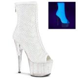 Branco Vegan 18 cm ADORE-1031GM Botas de tornozelo dedo aberto