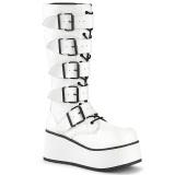 Branco Vegan 8,5 cm TRASHVILLE-518 botas demonia - botas plataforma unisex
