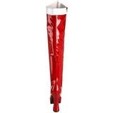 Branco Vermelho 13 cm ELECTRA-2090 bota acima do joelho