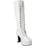 Branco Verniz 10,5 cm EXOTICA-2020 Botas com Cadarco Femininas