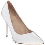 Branco Verniz 10 cm CLASSIQUE-20 Sapatos Scarpin Salto Agulha
