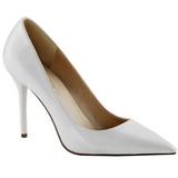 Branco Verniz 10 cm CLASSIQUE-20 Scarpin Saltos Altos para Homens