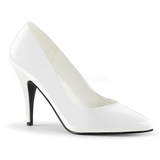 Branco Verniz 10 cm VANITY-420 Scarpin Saltos Altos para Homens