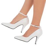 Branco Verniz 10 cm VANITY-431 Sapatos Scarpin Femininos