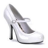 Branco Verniz 12 cm PRETTY-50 Sapatos Scarpin Femininos