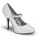 Branco Verniz 12 cm TEMPT-35 Sapatos Scarpin Femininos