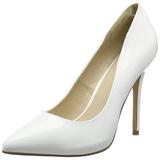 Branco Verniz 13 cm AMUSE-20 Sapatos Scarpin Salto Agulha
