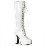 Branco Verniz 13 cm ELECTRA-2020 Botas Mulher para Homens