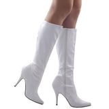 Branco Verniz 13 cm SEDUCE-2000 Botas Mulher para Homens