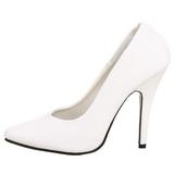 Branco Verniz 13 cm SEDUCE-420 scarpin de bico fino salto alto